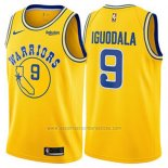 Camiseta Golden State Warriors Andre Iguodala #9 Hardwood Classic 2018 Amarillo