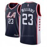 Camiseta Los Angeles Clippers Lou Williams #23 Ciudad 2018-19 Azul