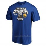 Camiseta Manga Corta Golden State Warriors 2019 Western Conference Champions Level of Desire Azul