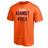 Camiseta Manga Corta Phoenix Suns Violeta Naranja Against The World