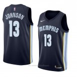 Camiseta Memphis Grizzlies Brice Johnson #13 Icon 2017-18 Azul