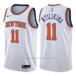 Camiseta New York Knicks Frank Ntilikina #11 Association 2017-18 Blanco