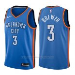 Camiseta Oklahoma City Thunder Corey Brewer #3 Icon 2017-18 Azul