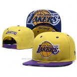 Gorra Los Angeles Lakers Snapback Amarillo Violeta
