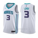 Camiseta Charlotte Hornets Jeremy Lamb #3 Association 2017-18 Blanco