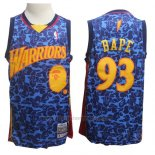 Camiseta Golden State Warriors Bape #93 Hardwood Classics Azul