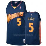 Camiseta Golden State Warriors Baron Davis 2009-10 Hardwood Classics Azul