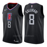 Camiseta Los Angeles Clippers Danilo Gallinari #8 Statement 2019 Negro