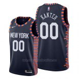 Camiseta New York Knicks Enes Kanter #00 Ciudad 2019 Azul