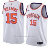 Camiseta Phoenix Suns Alan Williams #15 Hardwood Classic 2018 Blanco