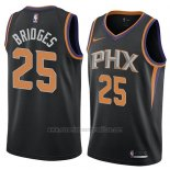 Camiseta Phoenix Suns Mikal Bridges #25 Statement 2018 Negro