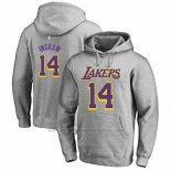 Sudaderas con Capucha Brandon Ingram Los Angeles Lakers Gris2