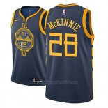 Camiseta Golden State Warriors Alfonzo Mckinnie #28 Ciudad 2018-19 Azul