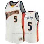 Camiseta Golden State Warriors Baron Davis 2009-10 Hardwood Classics Blanco