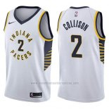 Camiseta Indiana Pacers Darren Collison #2 Association 2017-18 Blanco