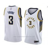Camiseta Indiana Pacers Joe Young #3 Association 2018 Blanco