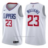 Camiseta Los Angeles Clippers Lou Williams #23 Association 2017-18 Blanco