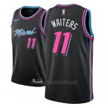 Camiseta Miami Heat Dion Waiters #11 Ciudad 2018-19 Negro