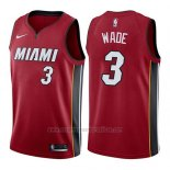Camiseta Miami Heat Dwyane Wade #3 Statement 2017-18 Rojo