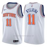 Camiseta New York Knicks Frank Ntilikina #11 Statement 2017-18 Blanco