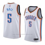 Camiseta Oklahoma City Thunder Devon Hall #5 Association 2018 Blanco