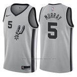 Camiseta San Antonio Spurs Dejounte Murray #5 Statement 2017-18 Gris