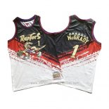 Camiseta Toronto Raptors Tracy Mcgrady Mitchell & Ness Negro Rojo