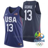 Camiseta USA 2016 Paul George #13 Azul