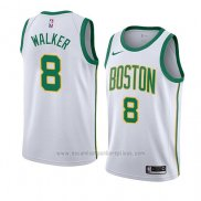 Camiseta Boston Celtics Kemba Walker #8 Ciudad 2019-20 Blanco