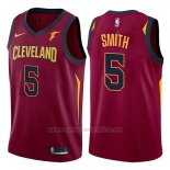 Camiseta Cleveland Cavaliers J.r. Smith #5 Icon 2017-18 Rojo