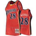 Camiseta Golden State Warriors Alfonzo Mckinnie 2009-10 Hardwood Classics Naranja