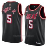 Camiseta Miami Heat Derrick Jones Jr. #5 Classic 2018 Negro