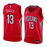 Camiseta New Orleans Pelicans Cheick Diallo #13 Statement 2018 Rojo