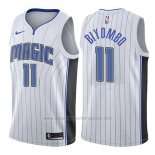 Camiseta Orlando Magic Bismack Biyombo #11 Association 2017-18 Blanco