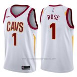 Camiseta Cleveland Cavaliers Derrick Rose #1 Swingman Association 2017-18 Blanco