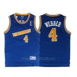 Camiseta Golden State Warriors Chris Webber #4 Retro Azul