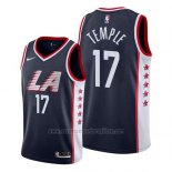 Camiseta Los Angeles Clippers Garrett Temple #17 Ciudad 2019 Azul