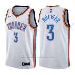 Camiseta Oklahoma City Thunder Corey Brewer #3 Association 2017-18 Blanco