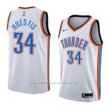 Camiseta Oklahoma City Thunder Josh Huestis #34 Association 2018 Blanco