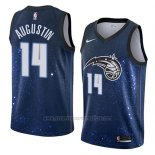 Camiseta Orlando Magic D.j. Augustin #14 Ciudad 2018 Azul