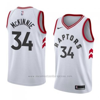 Camiseta Toronto Raptors Alfonzo Mckinnie #34 Association 2018 Blanco