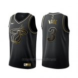 Camiseta Golden Edition Miami Heat Dwyane Wade #3 Negro