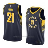 Camiseta Indiana Pacers Thaddeus Young #21 Icon 2018 Azul