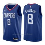 Camiseta Los Angeles Clippers Danilo Gallinari #8 Icon 2017-18 Azul