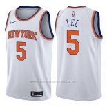Camiseta New York Knicks Courtney Lee #5 Association 2017-18 Blanco