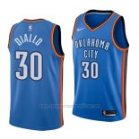 Camiseta Oklahoma City Thunder Hamidou Diallo #30 Icon 2018 Azul Blanco
