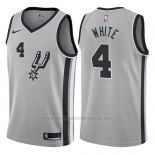 Camiseta San Antonio Spurs Derrick White #4 Statement 2017-18 Gris