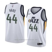 Camiseta Utah Jazz Isaac Haas #44 Association 2018 Blanco