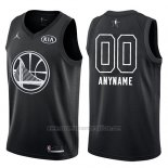 Camiseta All Star 2018 Golden State Warriors Nike Personalizada Negro