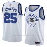 Camiseta Golden State Warriors Chris Boucher #25 Hardwood Classic 2018 Blanco